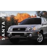 2001 Hyundai SANTA FE sales brochure catalog US 01 GLS LX V6 - $6.00