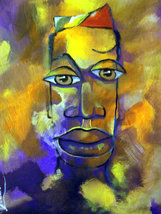 Original 8x10 African American Portrait Canvas ... - $19.00