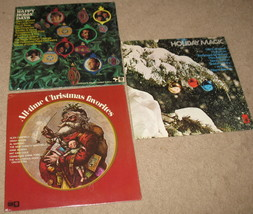 3 Vintage Collector Limited Christmas LP Vinyl Albums - $29.84