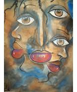Original 8x0 Ethic African American Canvas Wall Art :- R Doward Fine Art - $19.00