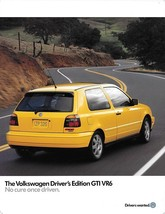 1997 Volkswagen GTI VR6 DRIVER'S EDITION brochure catalog sheet 97 VW - $12.00