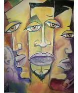 """Original 8x10"""" Ethic African American Urban Canvas Wall Art 3:- R Doward... - $18.81"""