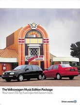 1997 Volkswagen GOLF and JETTA MUSIC Editions sales brochure sheet 97 US VW - $6.00