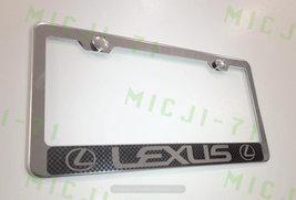 Lexus Carbon Fiber Stainless Steel License Plate Frame Rust Free W/ Bolt Caps - $13.50