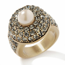 "Heidi Daus ""Tailored Made"" Crystl Ring size 11 - $56.78"
