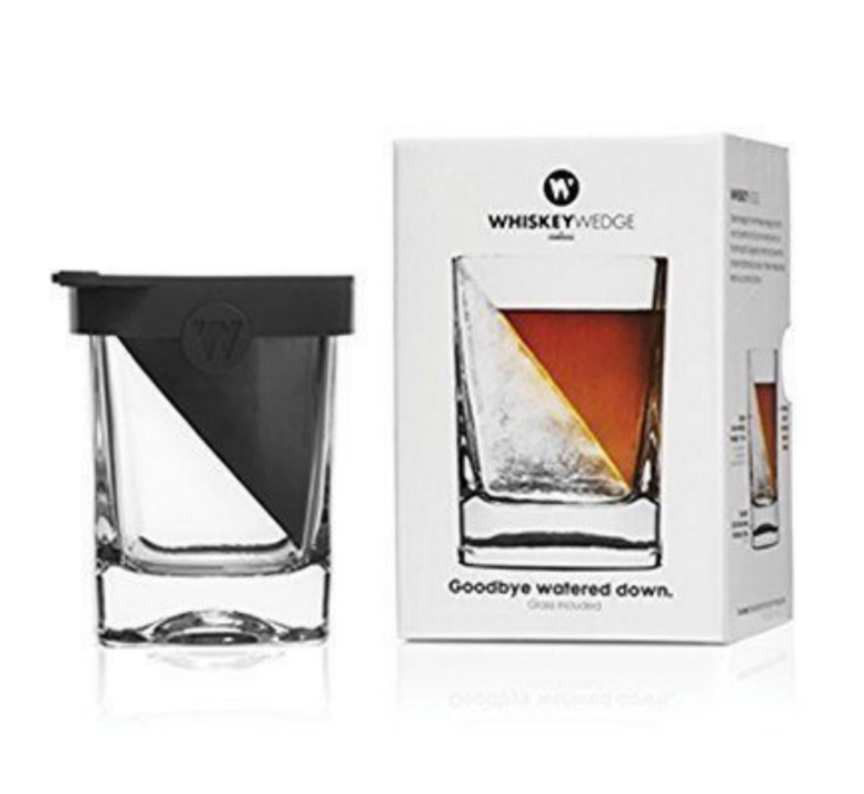 Corkcicle Whiskey Wedge-Old Fashioned Classic Drink Glass &Silicone Mold New Box - $19.77