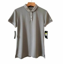 New Nike Polo Golf Shirt Gray 884841-036 Women's Size Medium NWT - $29.97
