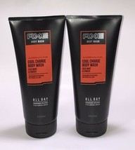 Lot of 2 Axe Adrenaline Cool Charge Iced Mint And Ginger Body Wash New! - $24.74