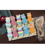 30pcs alpaca Paper Clip with twine,Clothespin,Birthday Party Favor Decor... - $7.20