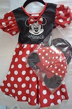Disney Minnie Mouse 3pc Costume Set Childs' Size: XS (4-5) - $29.99