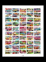 Greetings from America, Full Sheet of 50 37-cent State Stamps, USA 2002,... - $21.95