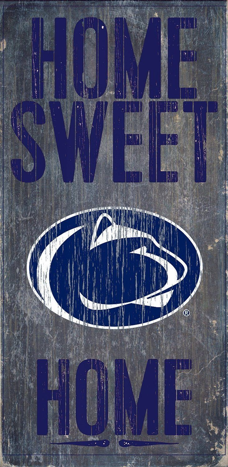 "PENN STATE NITTANY LIONS  HOME SWEET HOME WOOD SIGN with ROPE 12"" X 6"" MAN CAVE!"