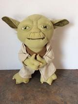 "Underground Toys Star Wars TALKING YODA Plush Doll 13"" Just Play  2011 - $39.55"