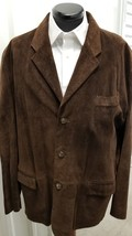 J. Crew Brown Genuine Suede Jacket, Size X-Large - $89.00