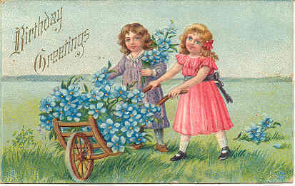 Birthday Greetings 1912  Post Card