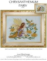 Chrysanthemum Fairy JE037 cross stitch chart Joan Elliott Designs - $14.00