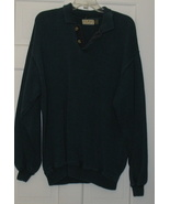 L.L. Bean Heavy 2 Button Cotton Sweater XL - $24.35
