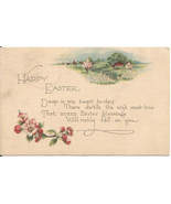 "Antique Easter Greeting Postcard ""Happy Easter""... - $4.99"