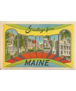 Augusta Maine Large Letter Big Letter Vintage P... - $6.99