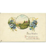 "Cornflowers & Wheat ""Best Wishes.."" Greeting Ca... - $4.99"
