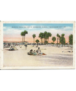 Municipal Beach & Pier St. Petersburg Florida The Sunshine City Vintage ... - $4.99