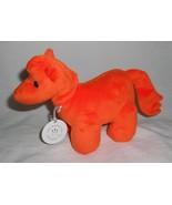 Manhattan Toy Jellybeans Sunny Horse Pony Orange Plush Stuffed Animal Tags - $10.12