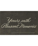 "Chalkboard Look Message Antique Postcard ""Yours... - $2.99"