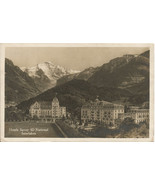 Mountain Scene in Switzerland showing 2 hotels ... - $4.99