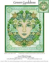 Green Goddess JE039 cross stitch chart Joan Elliott Designs - $14.00