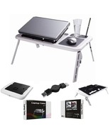 Laptop USB Folding Table w/2 Cooling Fan+Mouse Pad *NIB* - $29.88