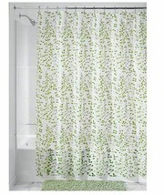 InterDesign Floral EVA Shower Curtain, 72-Inch by 72-Inch, Vine, green/white - $16.99