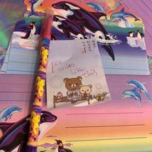 Lisa Frank Stationery Tin Markie Imagionationery Heels Roses Notecards Party  image 5