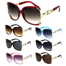 Womens Exposed Lens Butterfly Rhinestone Jewel Designer Sunglasses - $12.95