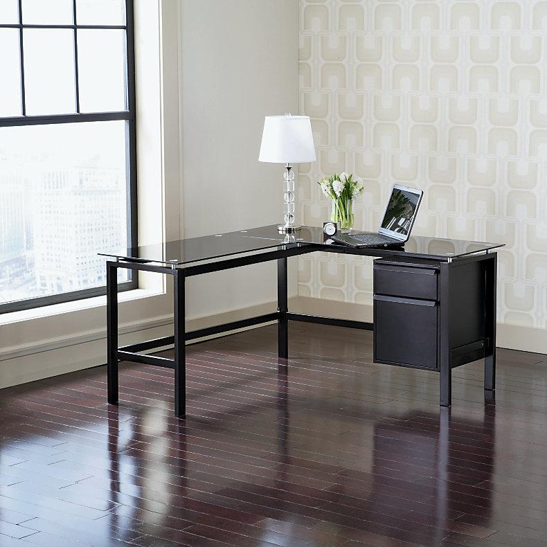 Realspace Lake Point L Desk 29 H X 56 W