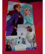 Disney Frozen 2 Elsa Anna Olaf 2 Piece Bath Towel & Washcloth Set - $20.00