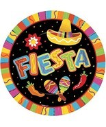 "Fiesta Fun Cinco de Mayo Mexican Theme Party 10.5"" Paper Banquet Plates - $9.66"
