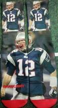 Custom Tom Brady New England Patriots NFL socks football blue powder  galaxy  - $13.99