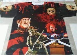 Custom Horror Terror Sublimated Shirt Freddy Jason Chucky Leatherface bred toro - $33.99