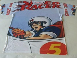 Custom Speed Racer Sublimated shirt white bred powder blue thunder lightning - $33.99