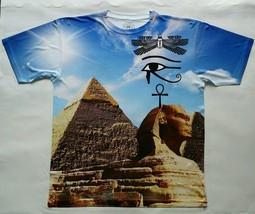 Egyptian Pyramids T Sublimated Shirt laser sport blue ancient original man black - $33.99