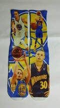 Custom Stephen Curry collage dry Fit socks golden state warriors laney X XII - $11.99