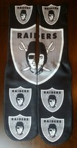 Custom Oakland Raiders DRY FIT socks NFL gamma laney oreo  - $11.99