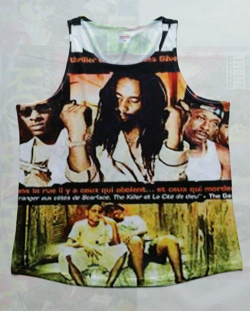 Custom Shottas Tank T Sublimated Shirt gamma bred concord legend reggae rasta - $33.99