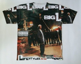 Big L Lyfestyles of the Poor and Dangerous T Sublimated shirt laney  HIP HOP - $33.99