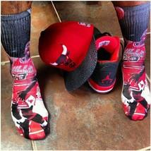 Custom Jordan Eyes Wide Open Dry Fit socks gamma laney X XII  - $13.99