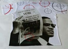 "Custom Malcolm X ""Target"" Sublimated Shirt  pantone powder galaxy bred - $33.99"