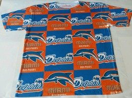 Custom Miami Dolphins Sublimated shirt bred powder blue thunder lightning nfl - $33.99