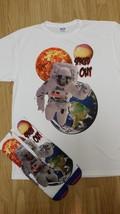 "Custom ""Spaced Out"" Sublimated Shirt & Sock set I II III IV V VI infared bred  - $33.00"