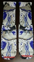 Custom Jordan 6 Sport Blue collage dry fit socks V VI VIII grape bred gamma  - $13.99