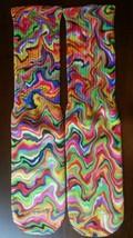 Custom Bred Gamma What the Laney volt neon marble swirl DRY FIT socks   - $11.99